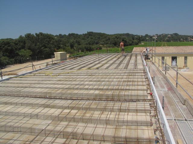 Desportes rénovation, bâtiment industriel STEP Sommières 30, élévation du plancher haut