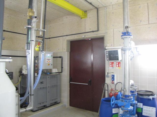 Desportes rénovation, bâtiment industriel intérieurs raccordement des machines à la STEP Sommières Gard