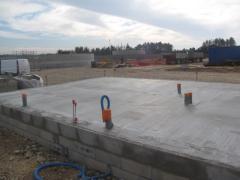 Desportes rénovation construction des soubassements d'un bâtiment industriel à Sommières 30